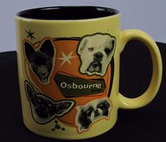 Ozzy Osbourne Family Coffee Mug Cup Forget About Dogs Beware of Owners 2002 EUC  #TheOsbournes