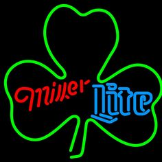 Miller Lite Green Clover Neon Sign 24x24, Miller Lite Neon Beer Signs & Lights | Neon Beer Signs & Lights. Makes a great gift. High impact, eye catching, real glass tube neon sign. In stock. Ships in 5 days or less. Brand New Indoor Neon Sign. Neon Tube thickness is 9MM. All Neon Signs have 1 year warranty and 0% breakage guarantee.