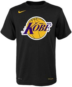 Nike Kobe Bryant Los Angeles Lakers Kobe Logo T-Shirt, Big Boys (8-20)