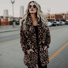fd32842276dc R$ 112.87 47% de desconto|2018 Luxo Leopardo Da Pele Do Falso Casaco De Pele  Artificial Jaqueta casaco Feminino de pele de coelho Confortável Inverno ...