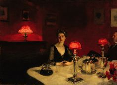 John Singer Sargent - Le verre de porto (A Dinner Table at Night) - Google Art Project - John Singer Sargent - Wikipedia, the free encyclopedia