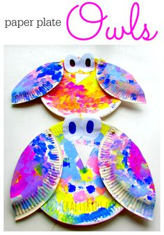 This colorful and easy-to-make paper plate owl has movable arms for some extra fun!