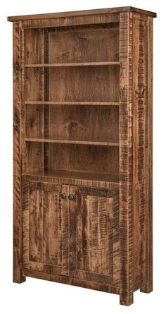 Amish El Paso Bookcase Best selling contemporary wood bookcase, the El Paso offers everything you want in custom wood furniture. Available in 4 heights and eleven different woods. Amish furniture made in America. #bookcase #bestseller #officefurniture #Amishfurniture