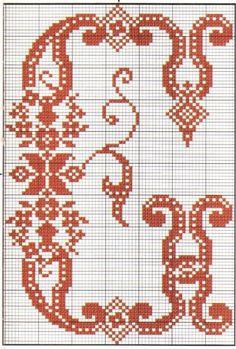 Gallery.ru / Фото #1 - MONOGRAMS 2 - aaadelayda Crochet Alphabet, Cross Stitch Alphabet Patterns, Embroidery Alphabet, Cross Stitch Borders, Cross Stitch Charts, Cross Stitch Designs, Cross Stitching, Cross Stitch Embroidery, Stitch Patterns