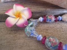 hawaiian flower necklace tropical necklace island by beadshawaii