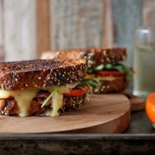 Persimmon, Prosciutto, and Brie Grilled Cheese