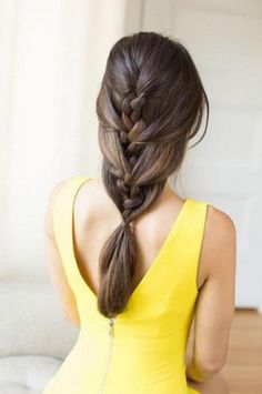 What a beautiful twist on a traditional braid hairstyle.
