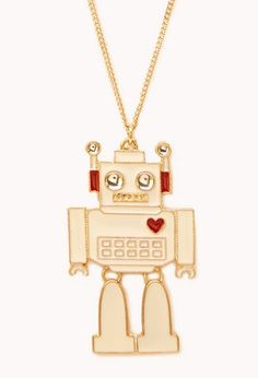 Kitsch Robot Pendant Necklace | FOREVER 21 - 1000091743