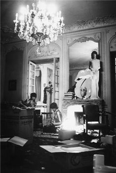 Mick Jagger and Keith Richards: by Dominique Tarle