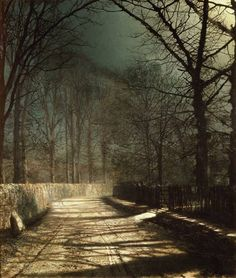 A Moonlit Lane, John Atkinson Grimshaw.