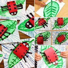 Ladybugs  #youngschoolart #artteachersofinstagram #artteachercrafts #artclass #springart #ladybugart #artteacher #elementaryart