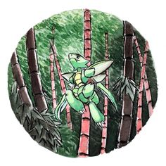 Scyther traversing the bamboo forest! Pokemon Pins, All Pokemon, Pokemon Fan Art, Cute Pokemon, Pokemon Fusion, Pokemon Cards, Flying Type Pokemon, Pokemon Special, Video Game Art