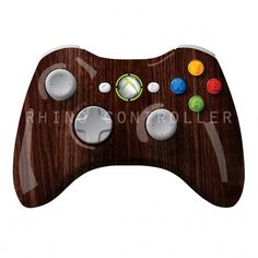 Custom XBOX 360 controller Wireless Glossy WTP-105-Walnut-Grain Custom Painted