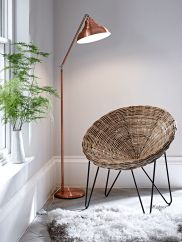 Rattan Cone Chair - Modern Luxury Seating - Modern Home Furniture Home Decor Trends, Diy Home Decor, Circle Chair, Copper Floor Lamp, Leather Butterfly Chair, Bedroom Decor Lights, Relax, Modern Home Furniture, Piece A Vivre