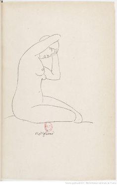 Nymphes . [Poème des Roger Frène orné de dessins de Modigliani.]
