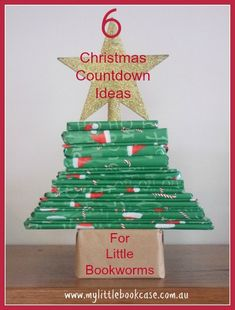Book A-Day Advent Tree is such a wonderful way to count down to Christmas and read along the way. We could just wrap Christmas books we already have Merry Little Christmas, Christmas Books, Christmas Love, Christmas Countdown, All Things Christmas, Winter Christmas, Christmas Crafts, Christmas Decorations, Christmas Ideas