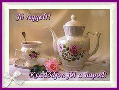 Good Morning, Tea Pots, Tableware, Facebook, Google, Buen Dia, Dinnerware, Bonjour, Tablewares