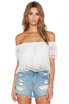 Lucy Paris Blushing Lace Crop Top #REVOLVEclothing
