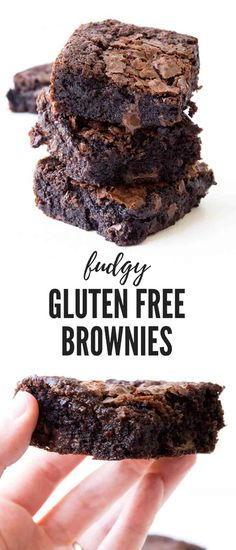down, the BEST gluten free chocolate brownies that are extra fudgy and gooey. Recipe from Hands down, the BEST gluten free chocolate brownies that are extra fudgy and gooey. Brownie Sans Gluten, Chocolate Sin Gluten, Dessert Sans Gluten, Gluten Free Sweets, Gluten Free Cakes, Gluten Free Cooking, Gluten Free Deserts Easy, Healthy Gluten Free Snacks, Paleo Chocolate Brownies
