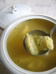 Homemade Chicken Soup w/Semolina dumplings ...... on http://palachinkablog.com
