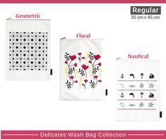 Kazzi Kovers delicates wash bags (35 cm x 45 cm) are simply the safe, effective and smart way to launder your delicates (lingerie, lace, bras, underwear, hosiery, swimwear), all types of garments' and fabrics.   Segregating your more delicate and finer garments when washing helps protect them from fraying, pilling and snagging the delicate material.  Our wash bags are made from 100% nylon and are thicker than basic, market-ready mesh or polyester laundry bags for better protection. Zip: 2.8…