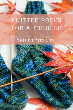 Knitted Socks for a Toddler