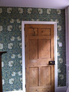 William Morris 'Pimpernel' in the green colourway. New sitting room decor.