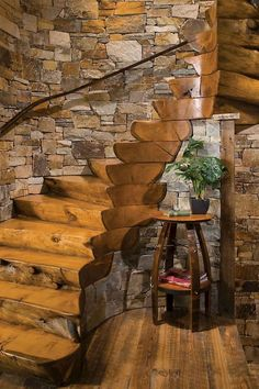 Haus umbau Deer Run Stone Pure and Man-made stone merchandise for landscaping and building Bringing Rustic Staircase, Staircase Design, Easy Woodworking Ideas, Log Cabin Homes, Log Cabin Kitchens, House Stairs, Stone Houses, Beautiful Architecture, Interior And Exterior