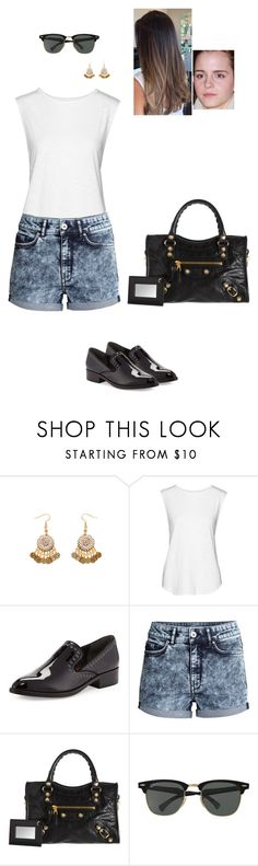 """Sem título #6537"" by gracebeckett ❤ liked on Polyvore featuring Tyler Jacobs, Donald J Pliner, H&M, Balenciaga and Ray-Ban"