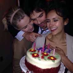 Nina celebrates her Birthday with bff Julianne Hough and Ian Somerhalder...late night, after the PCA