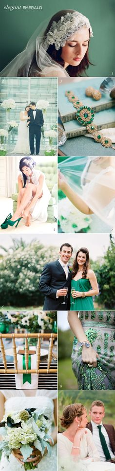 Emerald Green Wedding Inspiration Pantone Color of the Year 2013 Elizabeth Anne Designs
