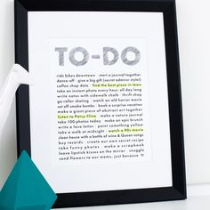 Picture of BFF To-Do List 8x10 Art Print