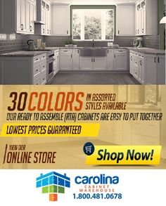 Carolina Cabinet Warehouse gives you THOUSANDS of options for your #kicthen or #bathroom #  sc 1 st  Pinterest & Kitchen Cabinets Online | RTA Kitchen Cabinets Wholesale | Carolina ...