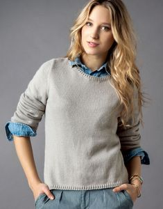 pull classique col rond femme