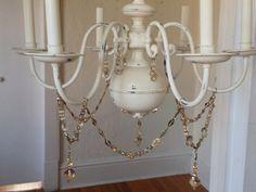 Shabby chic Chandelier glass beads by MySugarBlossom on Etsy, $115.00