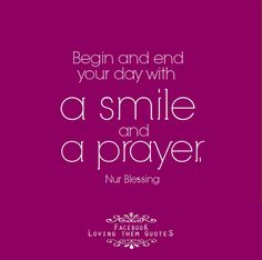 a smile and a prayer