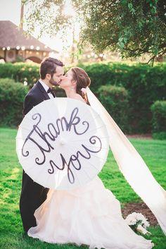 """""""Thank You"""" card idea for a wedding"""