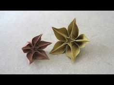 difficult but clear instructions in english Origami Instructions: Carambola (Carmen Sprung). difficult but clear instructions in english Instruções Origami, Design Origami, Origami Simple, Origami Videos, Origami Ball, Origami Paper Art, Origami Bookmark, Origami Fish, Origami Butterfly