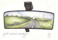get miles away. andrea joseph. nice idea for a one-point perspective drawing