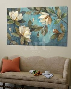 art quadros Loft Art: Floating Magnolias by Albena Hristova : Acrilic Paintings, Wall Art Pictures, Painting Inspiration, Flower Art, Framed Artwork, Abstract Art, Canvas Art, Wall Decor, Art Prints