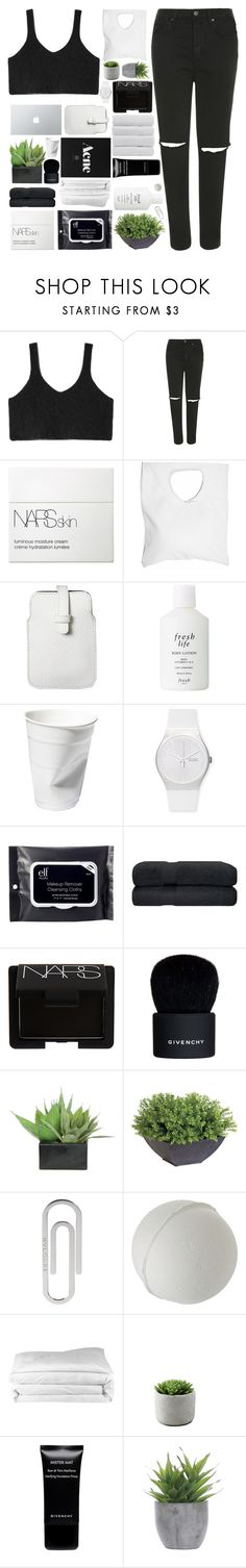 """""""C R Y S T A L"""" by trnslucid ❤ liked on Polyvore featuring Topshop, NARS Cosmetics, Jennifer Haley, Mossimo, Fresh, Swatch, e.l.f., Givenchy, Lux-Art Silks and Ethan Allen"""
