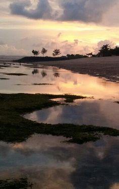 Wonderful sunset in serangan..