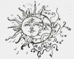 I like how the moon wraps around the sun!