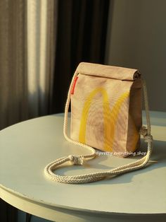 Mcdonalds Sling Bag - Recycled Polyester - Quirky Design Order Business Cards, Little Bag, Mcdonalds, Recycling, Paper, Cute, Bags, Etsy, Design