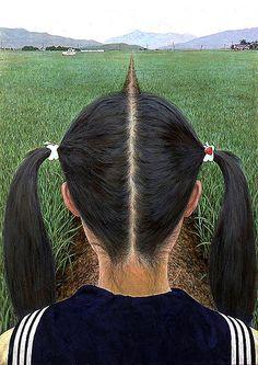"by Aida Makotoc""Footpath""  (1991), Japan 会田誠"