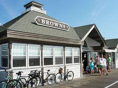 Browns Donuts on the boardwalk in Ocean City, NJ. The line gets SO long but it's worth the wait. Best donuts in the world!!