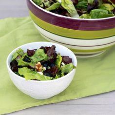 Blueberry Feta Salad with Basil Lemon Dressing
