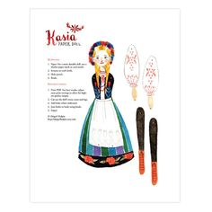 Kasia Articulated Paper Doll Instant Download by abigailhalpin