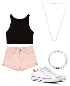 """Untitled #3"" by gabbyfuentes2001 on Polyvore featuring Current/Elliott, Converse and Wanderlust + Co"