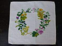 Vintage Swedish tablemat / Small hand printed by Scandivintage, $11.00
